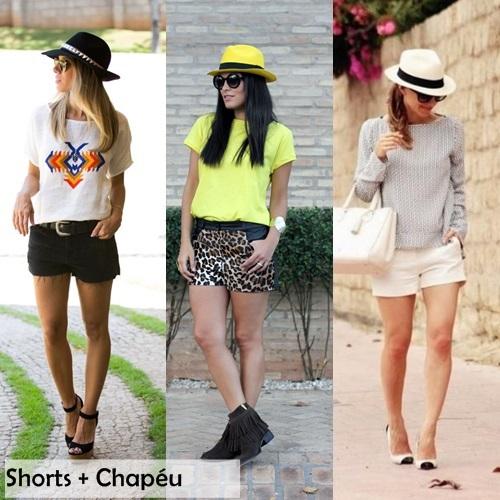 Chapéu e Shorts