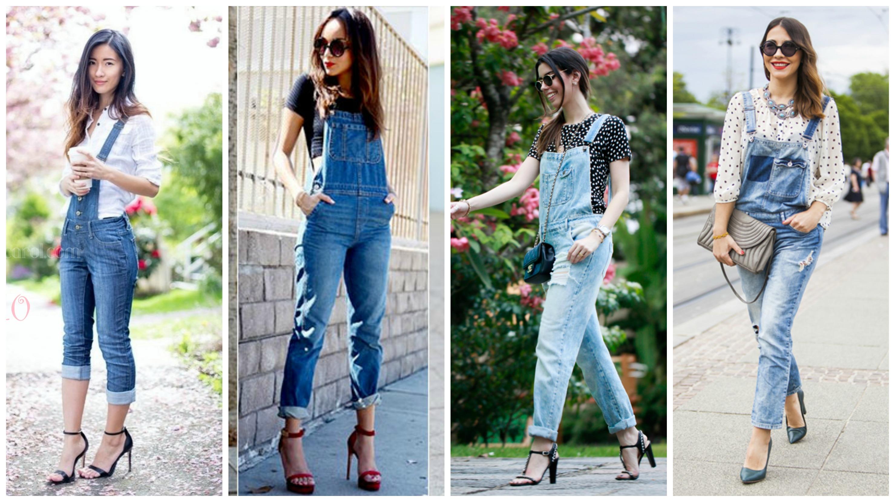 Resultado de imagem para macacão jeans